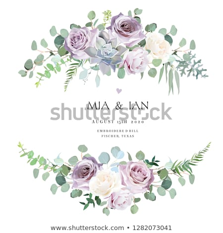 purple white flower Stock photo © stocker