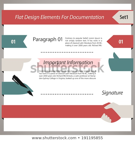 Projeto elementos documentação eps arquivo elemento Foto stock © Voysla