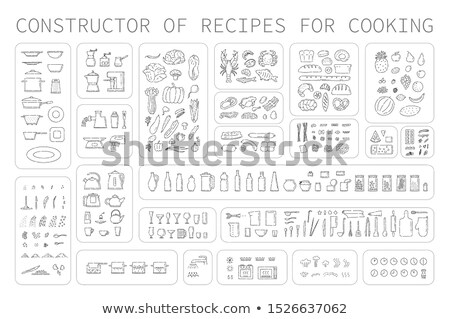 Process of cooking eggs, recipe, cooking and icons food Stock photo © elenapro