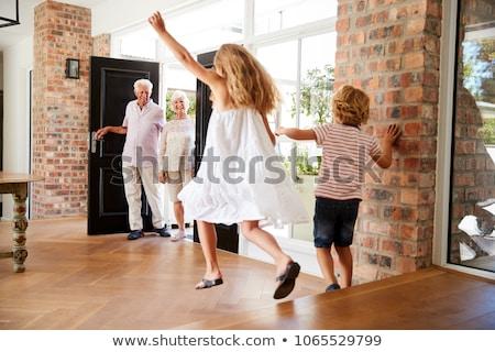 senior · man · springen · lucht · gelukkig · fitness - stockfoto © monkey_business