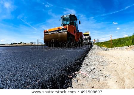 кирпичных · тротуар · дороги · перспективы · конкретные · строительство - Сток-фото © hofmeester