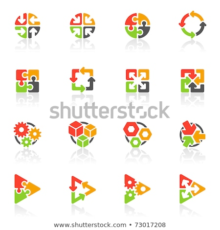 Gear Icon In Puzzle Photo stock © ussr