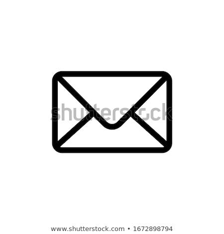Posta ikon postaláda email gomb bejövő üzenetek Stock fotó © kikkerdirk