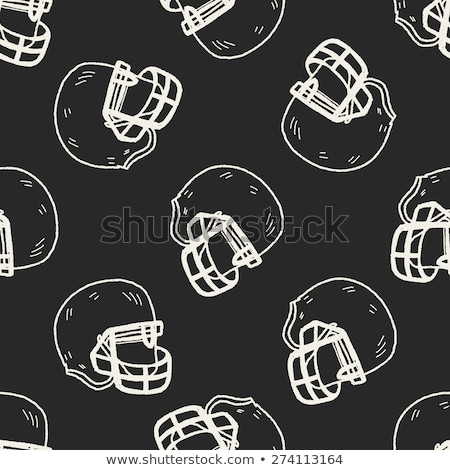 sketch football helmet vector seamless pattern stock photo © kali