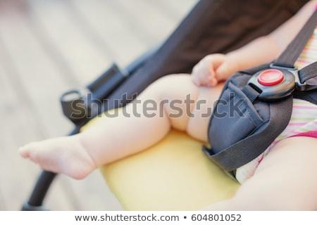 Közelkép baba fiú babakocsi gyermek ül Stock fotó © bmonteny
