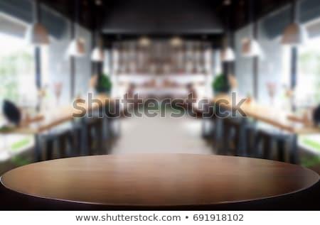 Restaurante tabela pronto madeira reunião projeto Foto stock © shivanetua