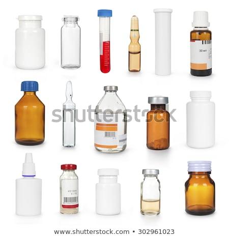 Médico garrafa recipiente branco fundo Foto stock © hin255