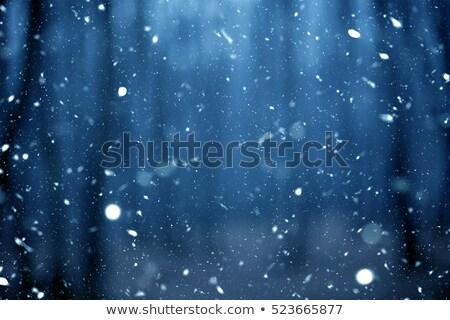 Hóesés hóvihar stilizált absztrakt illusztráció ajtók Stock fotó © tracer
