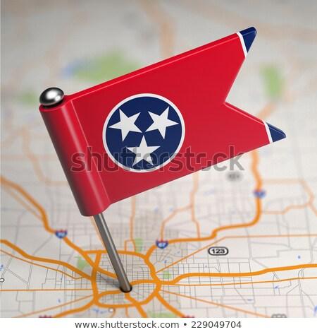 テネシー州 小 フラグ 地図 選択フォーカス 背景 ストックフォト © tashatuvango