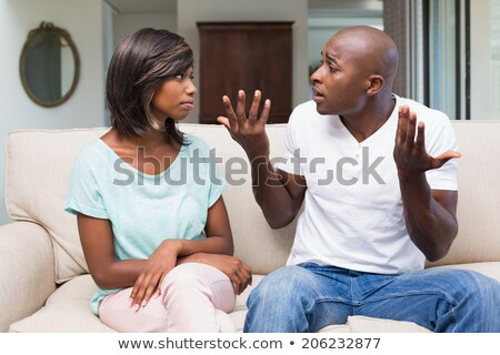 mixed race couple arguing stock photo © elvinstar