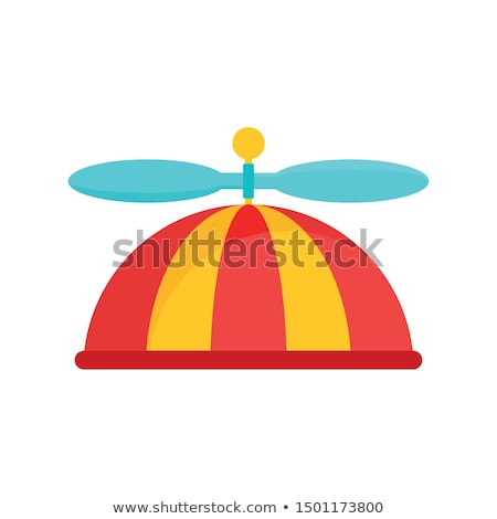 男 着用 プロペラ 帽子 背面図 ストックフォト © iofoto