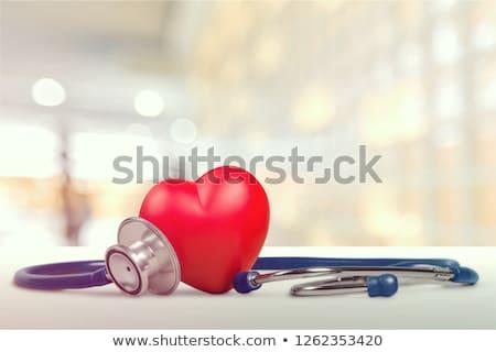 сердце · шаре · изолированный · белый · счастливым · рождения - Сток-фото © lightsource