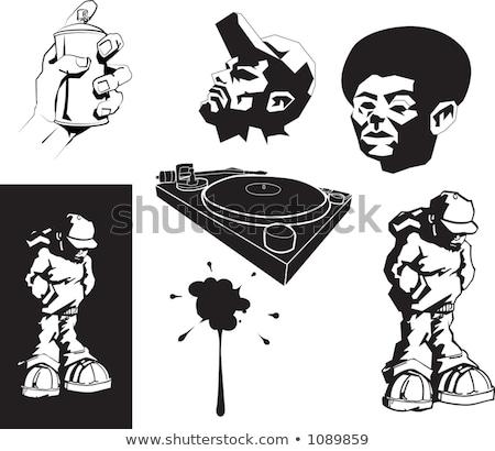 vector urban motifs/ stencils Stock photo © Krisdog