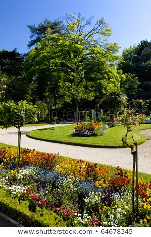 garden, Coutances, Normandy, France Stock photo © phbcz
