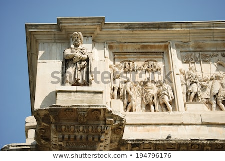 mermer · heykel · Roma · kemer · Bina · ağaçlar - stok fotoğraf © dserra1