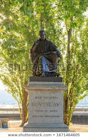Statue of Jean-Jacques Rousseau, Geneva, Switzerland Stock photo © Elenarts