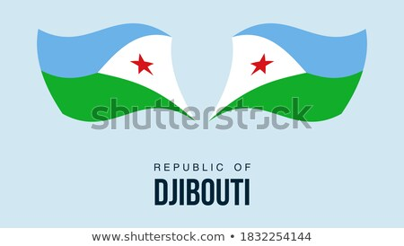 Map on flag button of Republic of Djibouti Stock photo © Istanbul2009