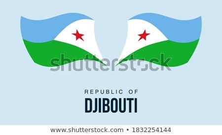 mapa · Djibouti · político · regiones · resumen - foto stock © istanbul2009