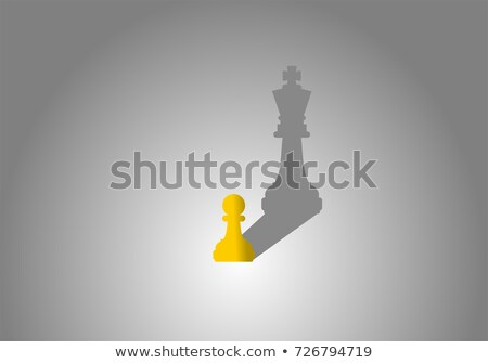 vector small chess pawn with the shadow of a big king stock photo © freesoulproduction