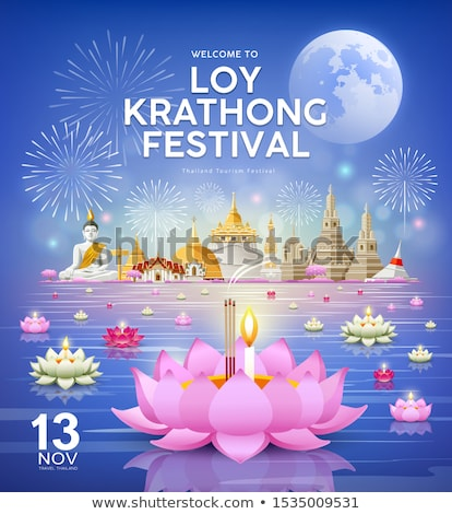 Sky lanterns firework festival, Loy Krathong, Thailand Stock photo © dashapetrenko