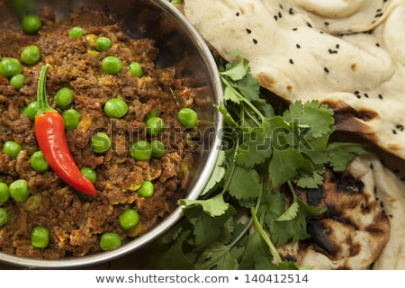 kheema with naan bread stock photo © klinker