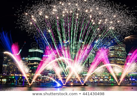 Foto stock: Fireworks In Darling Harbour