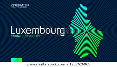 map of luxembourg with dot pattern stock photo © istanbul2009