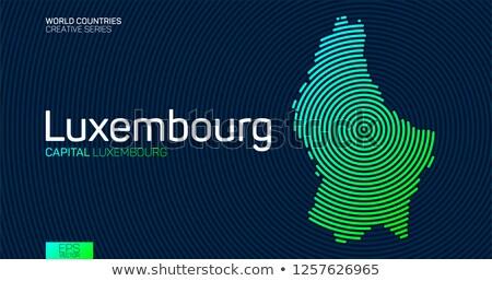 Kaart Luxemburg patroon vector afbeelding Stockfoto © Istanbul2009