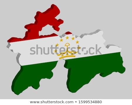 tajikistan flag map Stock photo © tony4urban