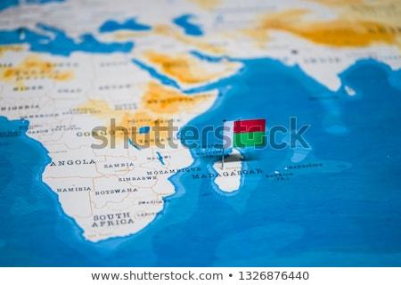 Madagaszkár zászló térkép vidék forma Stock fotó © tony4urban
