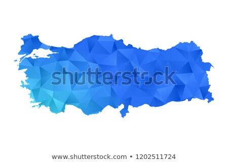 Viaggio creativo turco mappa colorato acqua Foto d'archivio © ozgur