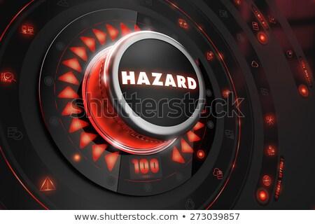 опасность черный утешить контроль красный подсветка Сток-фото © tashatuvango
