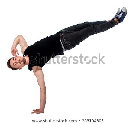 ブレーク · ダンサー · 1 · 逆立ち · 白 · 男 - ストックフォト © master1305