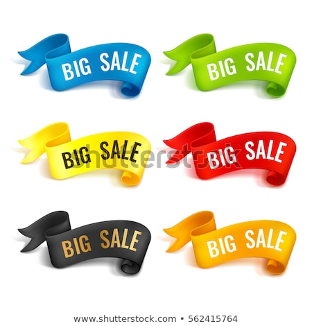 Big Offer Blue Sticky Notes Vector Icon Design Stock photo © rizwanali3d