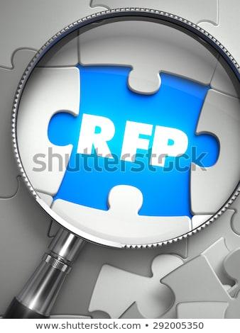 rfp   missing puzzle piece through magnifier stock photo © tashatuvango