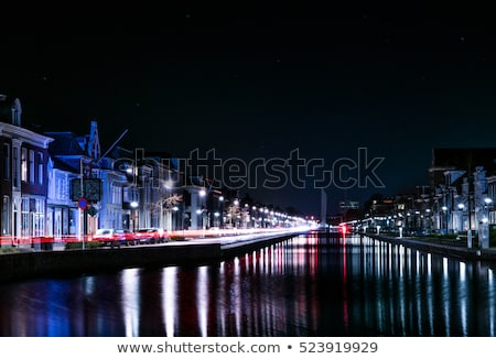 Tipico case Holland città canale centro Foto d'archivio © lypnyk2