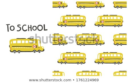 Vintage Back to School seamless pattern Stock photo © balabolka