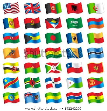 ストックフォト: イギリス · エリトリア · フラグ · パズル · 孤立した · 白