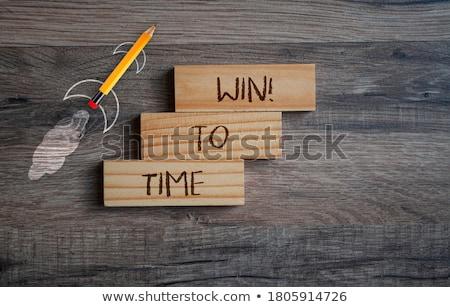 zaman · kazanmak · saat · beyaz · sözler · çalışmak - stok fotoğraf © fuzzbones0