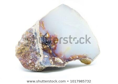 Natuurlijke mineraal geïsoleerd witte Blauw rock Stockfoto © jonnysek
