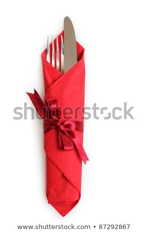 forcella · cucchiaio · coltello · isolato · ristorante · tavola - foto d'archivio © tetkoren