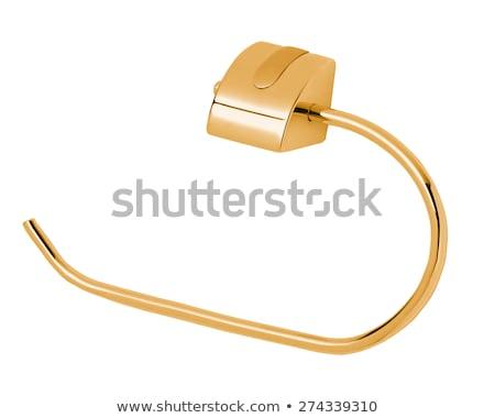 golden towel holder Stock photo © shutswis