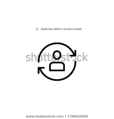 Personeel drie werknemer pijlen vector Stockfoto © RAStudio