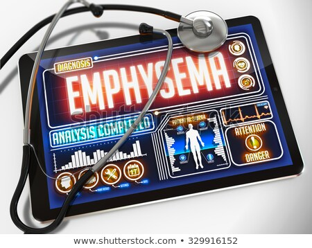 emphysema on the display of medical tablet stock photo © tashatuvango