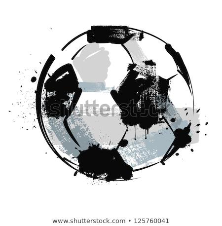 Гранж футбольным мячом Flying траектория грязные трава Сток-фото © Nekiy
