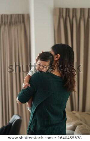 bebekler · anneler · omuzlar · bebek · mutlu · erkek - stok fotoğraf © Paha_L