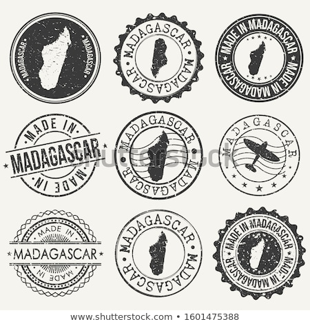 Madagascar pays pavillon carte forme texte Photo stock © tony4urban