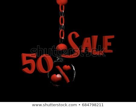 50 Percent balls on chains Stock photo © ijalin