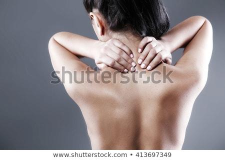 Geschikt brunette nek letsel witte gezondheid Stockfoto © wavebreak_media
