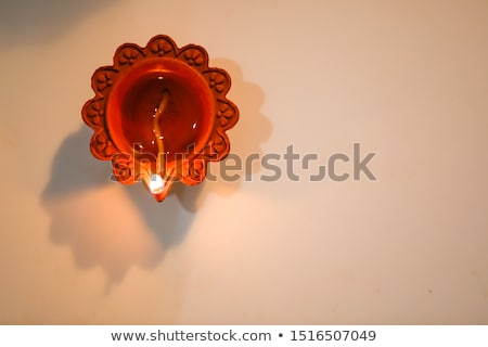 happy diwali background with golden deepak Stock photo © pathakdesigner